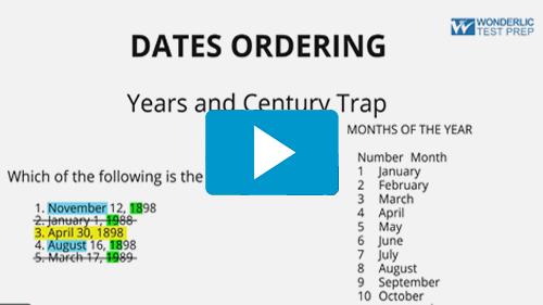 Dates Ordering