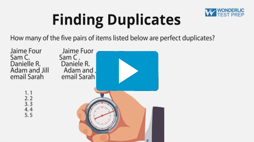 Finding Duplicates